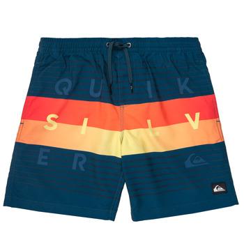 Textil Rapaz Fatos e shorts de banho Quiksilver WORD BLOCK VOLLEY YOUTH Azul