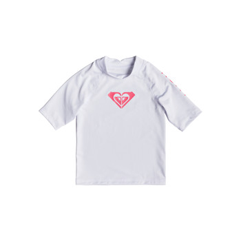 Roupa de interior Rapariga Camisolas de interior Roxy WHOLE HEARTED LS Claro / Branco