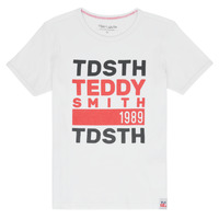 Textil Rapaz T-Shirt mangas curtas Teddy Smith DUSTIN Branco