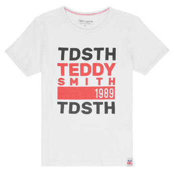 Textil Rapaz T-Shirt mangas curtas Teddy Smith DUSTIN Branco