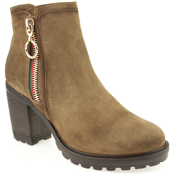 Sapatos Mulher Botins Oi L Ankle boots Lady Taupe