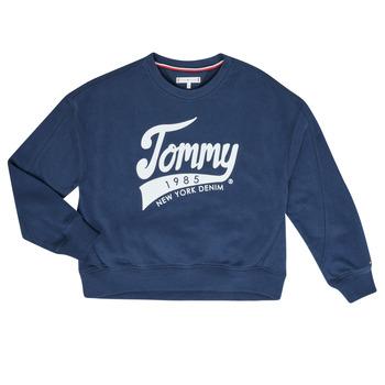 Textil Rapariga Sweats Tommy Hilfiger  Marinho