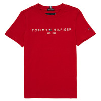 Textil Rapaz T-Shirt mangas curtas Tommy Hilfiger  Vermelho