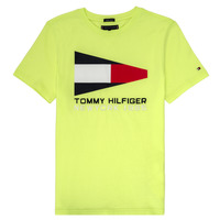 Textil Rapaz T-Shirt mangas curtas Tommy Hilfiger KB0KB05628 Amarelo
