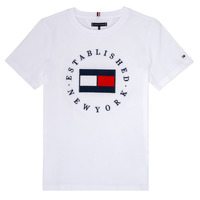 Textil Rapaz T-Shirt mangas curtas Tommy Hilfiger KB0KB05718 Branco