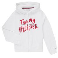 Textil Rapariga Sweats Tommy Hilfiger KG0KG05043 Branco