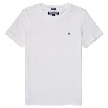 Textil Rapaz T-Shirt mangas curtas Tommy Hilfiger KB0KB04140 Branco