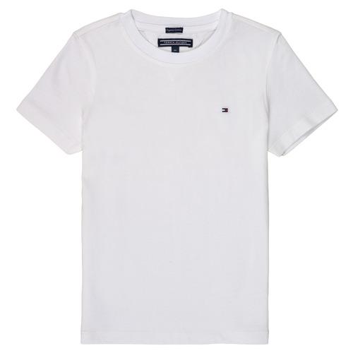 Textil Rapaz T-Shirt mangas curtas Tommy Hilfiger  Branco