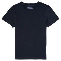 Textil Rapaz T-Shirt mangas curtas Tommy Hilfiger  Marinho
