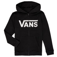 Textil Rapaz Sweats Vans BY VANS CLASSIC ZIP HOODIE Preto