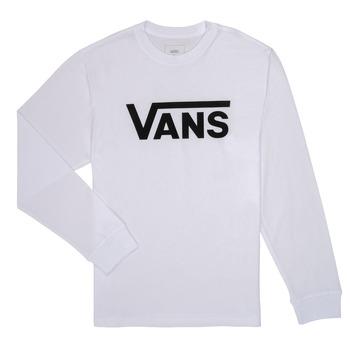 Textil Rapaz T-shirt mangas compridas Vans BY VANS CLASSIC LS Branco
