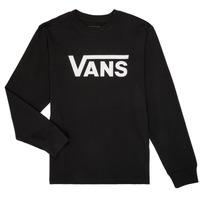 Textil Rapaz T-shirt mangas compridas Vans BY VANS CLASSIC LS Preto
