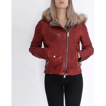 Textil Mulher Casacos de couro/imitação couro Delan V402 Vermelho