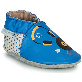 Sapatos Criança Chinelos Robeez MUSIC SOUND Azul / Bege
