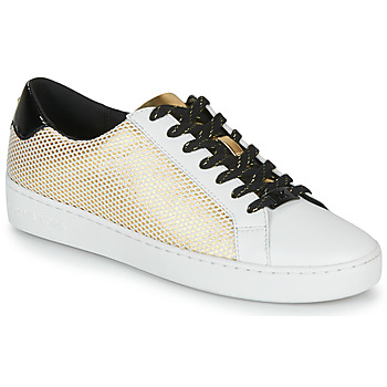 Sapatos Mulher Sapatilhas MICHAEL Michael Kors IRVING LACE UP Branco / Preto / Ouro