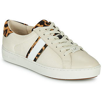 Sapatos Mulher Sapatilhas MICHAEL Michael Kors IRVING STRIPE LACE UP Cru / Leopardo