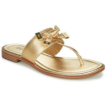 Sapatos Mulher Chinelos MICHAEL Michael Kors RIPLEY THONG Ouro