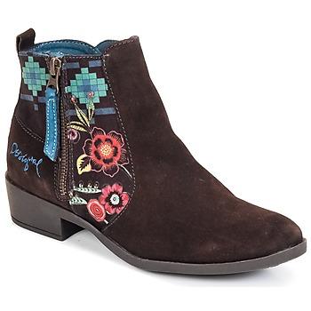 Sapatos Mulher Botins Desigual NATALIA Chocolate