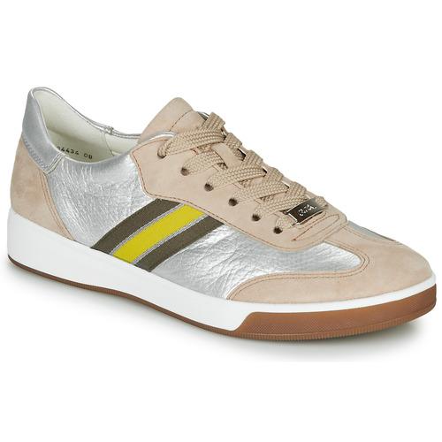 Ara Rom-highsoft Prata / Bege Amarelo - Entrega Gratuita- Sapatos Sapatilhas Mulher 115