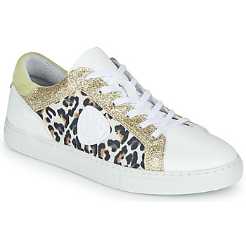 Sapatos Mulher Sapatilhas Philippe Morvan FURRY Branco / Leopardo / Glitter