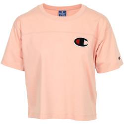 Textil Mulher T-Shirt mangas curtas Champion Crewneck T-Shirt Rosa