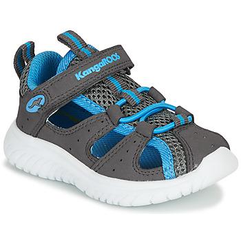 Sapatos Rapaz Sandálias Kangaroos KI-ROCK LITE EV Cinza / Azul