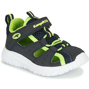 Sapatos Rapaz Sandálias Kangaroos KI-ROCK LITE EV Azul / Amarelo