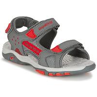 Sapatos Rapaz Sandálias Kangaroos K-CELTIC Cinza / Laranja