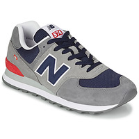 Sapatos Homem Sapatilhas New Balance 574 Cinza / Azul / Vermelho