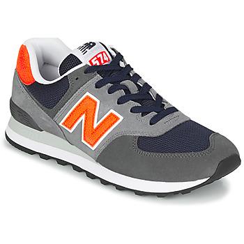 Sapatos Homem Sapatilhas New Balance 574 Cinza / Laranja
