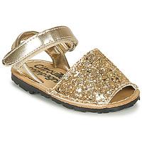 Sapatos Rapariga Sandálias Citrouille et Compagnie SQUOUBEL Ouro