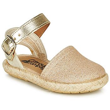 Sapatos Rapariga Sandálias Citrouille et Compagnie MIOSOTIS Ouro