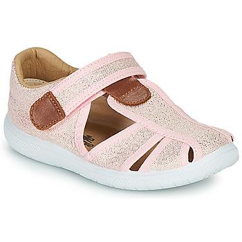 Sapatos Rapariga Sandálias Citrouille et Compagnie GUNCAL Rosa / Metalizado