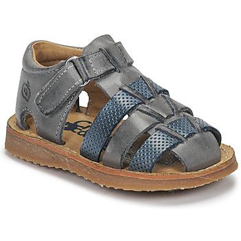 Sapatos Rapaz Sandálias Citrouille et Compagnie MISTIGRI Cinza / Azul