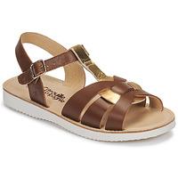 Sapatos Rapariga Sandálias Citrouille et Compagnie MINOTTE Castanho / Ouro