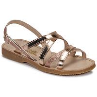 Sapatos Rapariga Sandálias Citrouille et Compagnie GENTOU Bronze / Glitter