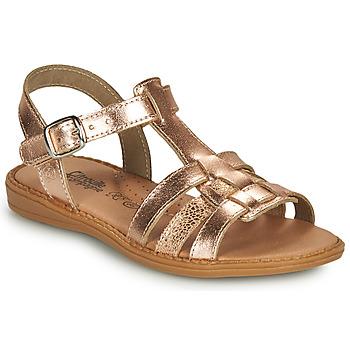 Sapatos Rapariga Sandálias Citrouille et Compagnie ROLUI Bronze