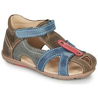 Sapatos Rapaz Sandálias Citrouille et Compagnie MARIOL Cinza / Azul