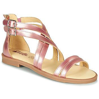 Sapatos Rapariga Sandálias Citrouille et Compagnie IMOURAT Rosa / Ouro