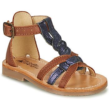 Sapatos Rapariga Sandálias Citrouille et Compagnie GITANOLO Marinho / Camel