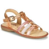Sapatos Rapariga Sandálias Citrouille et Compagnie GROUFLA Ouro / Rosa