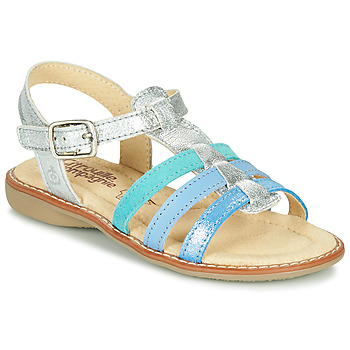 Sapatos Rapariga Sandálias Citrouille et Compagnie GROUFLA Prata / Azul