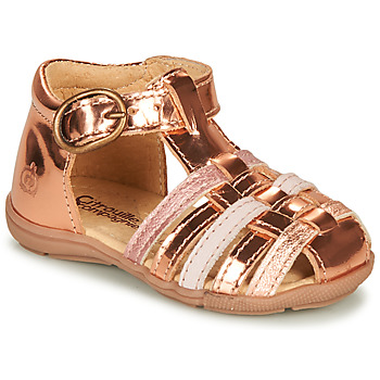 Sapatos Rapariga Sandálias Citrouille et Compagnie RINE Rosa / Metalizado