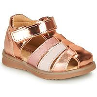 Sapatos Rapariga Sandálias Citrouille et Compagnie FRINOUI Bronze / Rosa