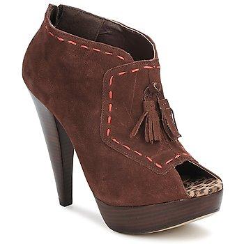 Sapatos Mulher Botas baixas Via Uno KAMILA Castanho