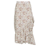 Textil Mulher Saias Betty London MADILOU Branco / Vermelho