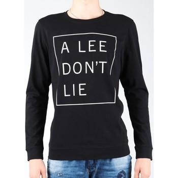 Textil Homem T-shirt mangas compridas Lee Don`t Lie Tee LS L65VEQ01 black, white