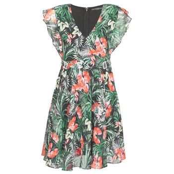 Textil Mulher Vestidos curtos Guess EULALIA DRESS Preto / Verde