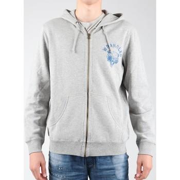 Textil Homem Casaco polar Wrangler Hoodie Zip Sweat W6497JE37 grey