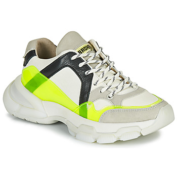 Sapatos Mulher Sapatilhas Bronx SEVENTY STREET Branco / Amarelo
